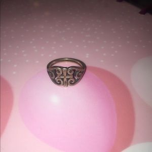 James Avery Scroll cross ring